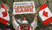 Fans at the World Junior Hockey